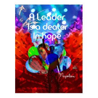 Encouragement  message for leadership. postcard