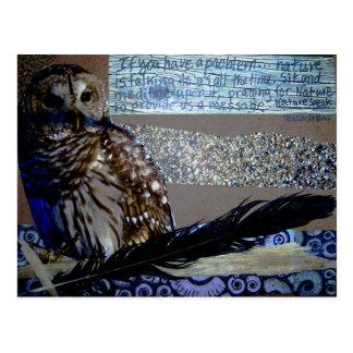 Encouragement Owl Postcard