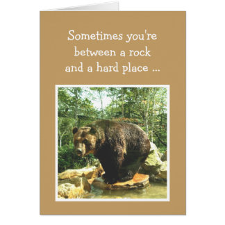 Encouragement Right Choice Decision Fun Bear Card