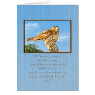 Encouragement, Rough-legged Hawk Card