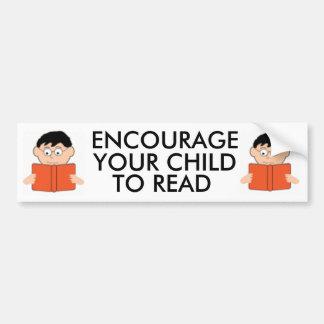 Encouragez votre enfant à lire Bumpersticker Autocollant De Voiture