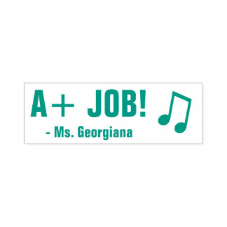"""Encouraging """"A+ JOB!"""" Educator Rubber Stamp"""