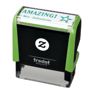 """Encouraging """"AMAZING!"""" Grading Rubber Stamp"""