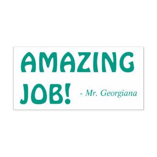 "Encouraging ""AMAZING JOB!"" Teacher Rubber Stamp"