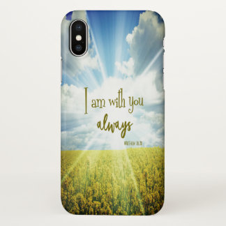 Encouraging Bible Verse iPhone X Case