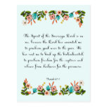 Encouraging Bible Verses Art - Isaiah 61:1 Postcard