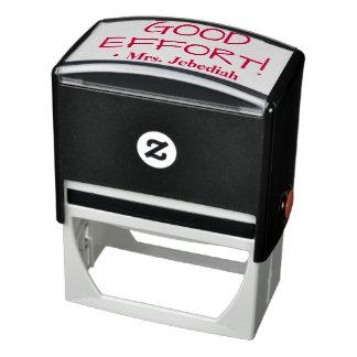 """Encouraging """"GOOD EFFORT!"""" + Custom Teacher Name Self-inking Stamp"""