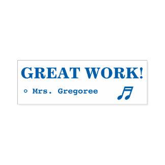 "Encouraging ""GREAT WORK!"" Educator Rubber Stamp"