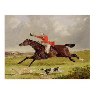 Encouraging Hounds, 1839 (oil on panel) Postcard