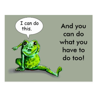 ENCOURAGING LIZARD POSTCARD