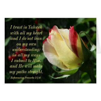 Encouraging Scripture Proverbs 3:4-6 Card