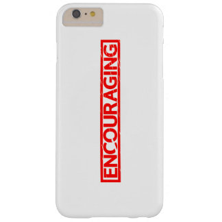 Encouraging Stamp Barely There iPhone 6 Plus Case