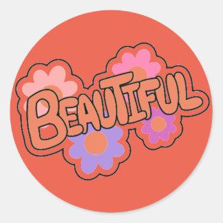 Encouraging Words Round Sticker, beautiful Round Sticker