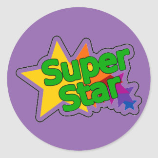 Encouraging Words Round Sticker, super star Round Sticker