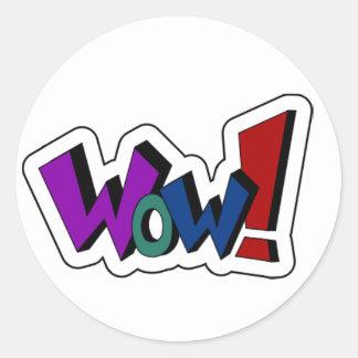 Encouraging Words Round Sticker, wow Round Sticker