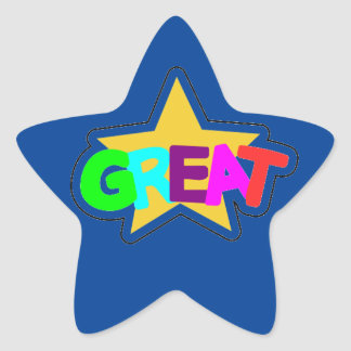 Encouraging Words Star Stickers, great, blue Star Sticker