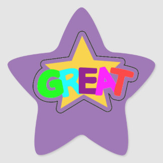 Encouraging Words Star Stickers, great, purple Star Sticker