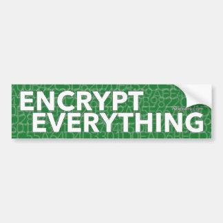 Encrypt Everything Bumper Sticker