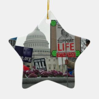 End Abortion Ceramic Star Ornament