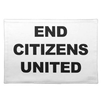 End Citizens United Placemat