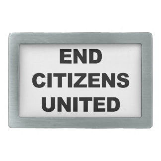 End Citizens United Rectangular Belt Buckles