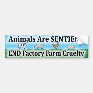 End Factory Farm Cruelty Bumper Sticker