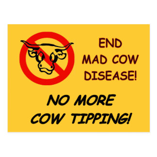 End Mad Cow Disease Postcard