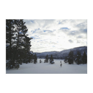 End of a Snowy Day in Yellowstone National Park Canvas Print