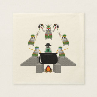End of Capitalism - Penguin Disposable Napkin