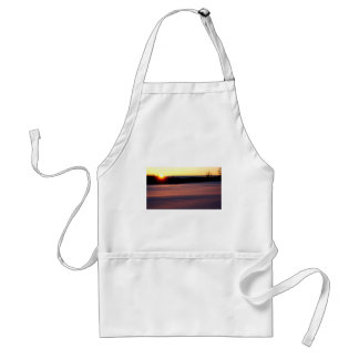 End of Day, midwinter sunset Standard Apron