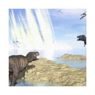 End of dinosaurs canvas print