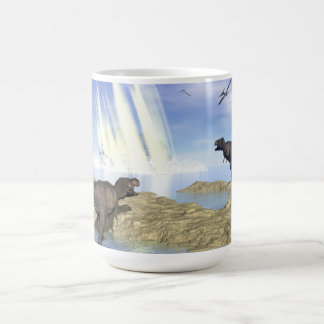 End of dinosaurs coffee mug