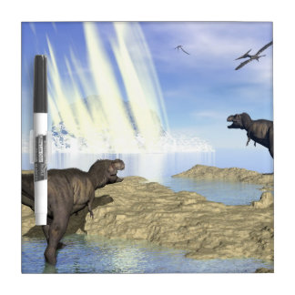 End of dinosaurs dry erase board