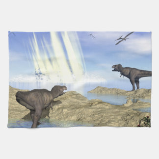 End of dinosaurs kitchen towel