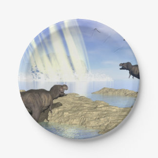 End of dinosaurs paper plate