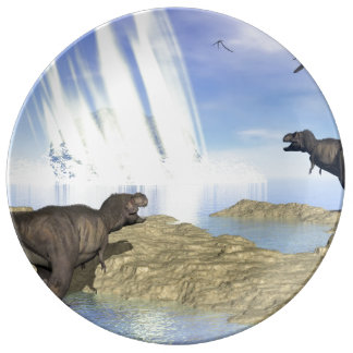 End of dinosaurs plate