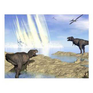 End of dinosaurs postcard