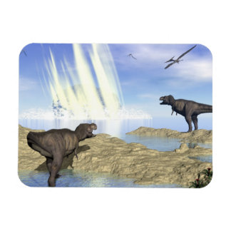 End of dinosaurs rectangular photo magnet