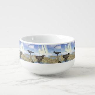 End of dinosaurs soup mug