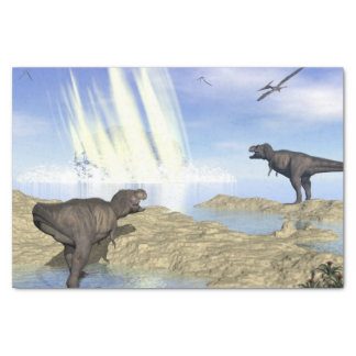 End of dinosaurs tissue paper