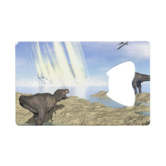 End of dinosaurs wallet bottle opener