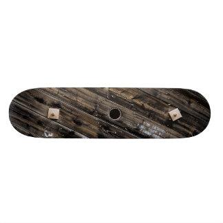 End of Industrial Wire Spool Skate Board Deck