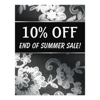 END of SUMMER Sale Silver Black Lace Flyer