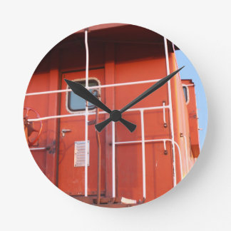 End of The Line Round Clock