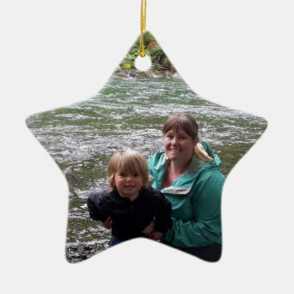 End of the long weekend ceramic star ornament