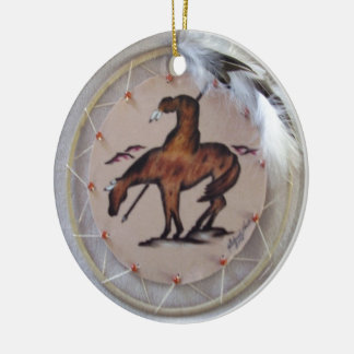 END OF THE TRAIL CERAMIC ORNAMENT