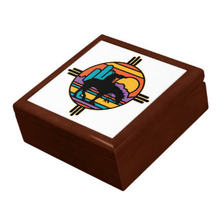 End of the Trail Native American Indian Gift Box