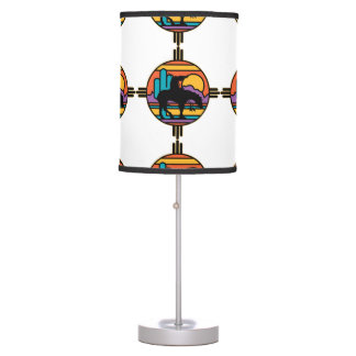 End of the Trail Native American Indian Table Lamp