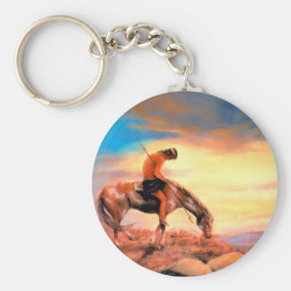 End of the Trail Native American Keychain