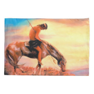 End of the Trail Native American Pillowcase